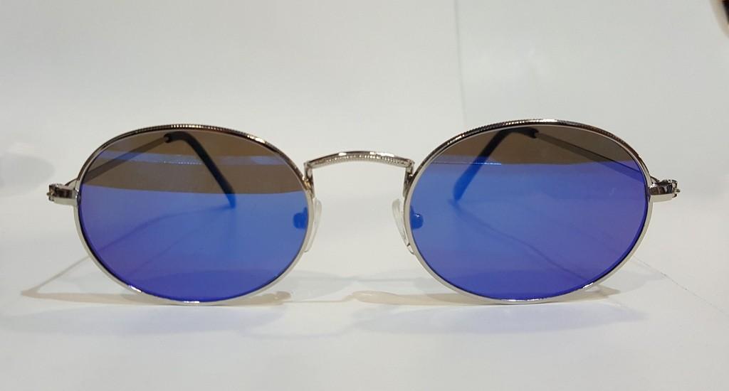 c02e19e68af Unisex Γυαλια Ηλιου Φακοι Καθρεπτης Οβαλ Σκουρο Μπλε - Pure Clothing