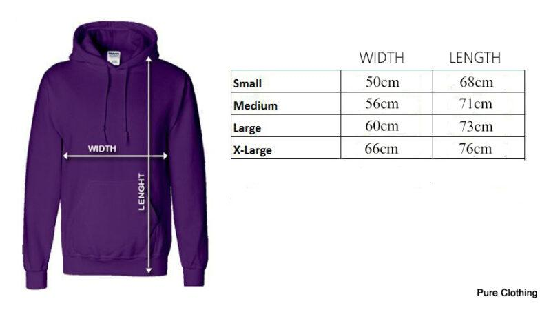 Size Charts Hoodie Pure